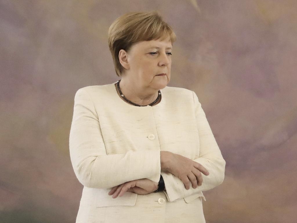 Angela Merkel shakes