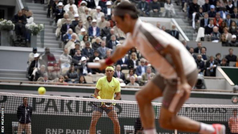 Rafael Nadal now has a 6-0 career record over Roger Federer at the French Open