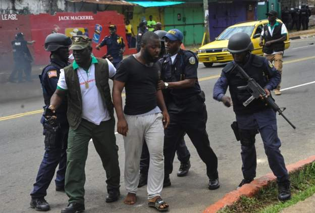 Protesters in Liberia arrested