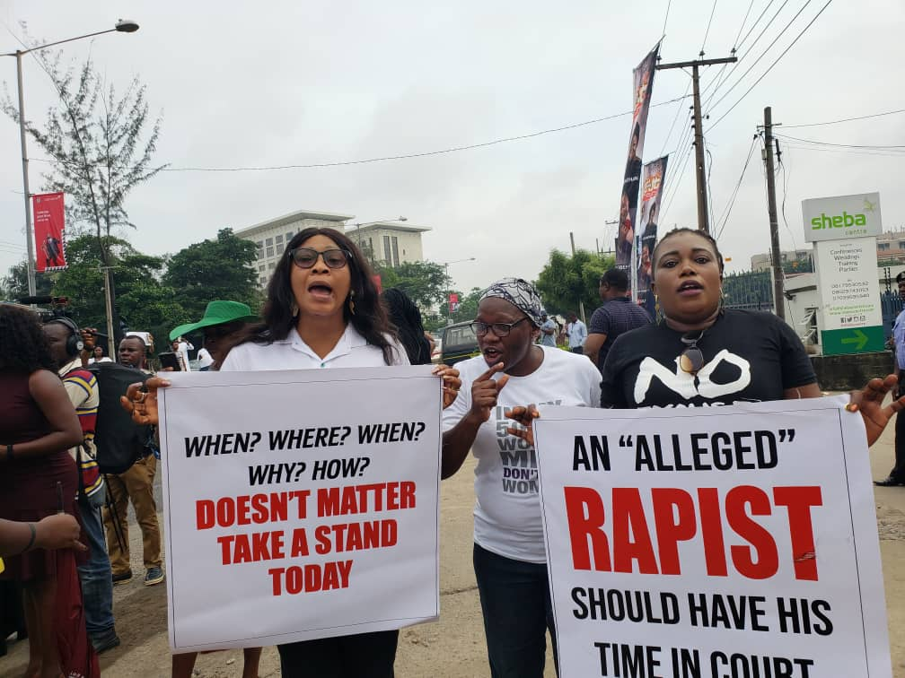 Protests over rape allegation