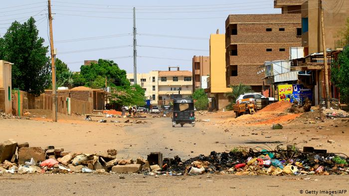 Many streets in Khartoum are largely empty.