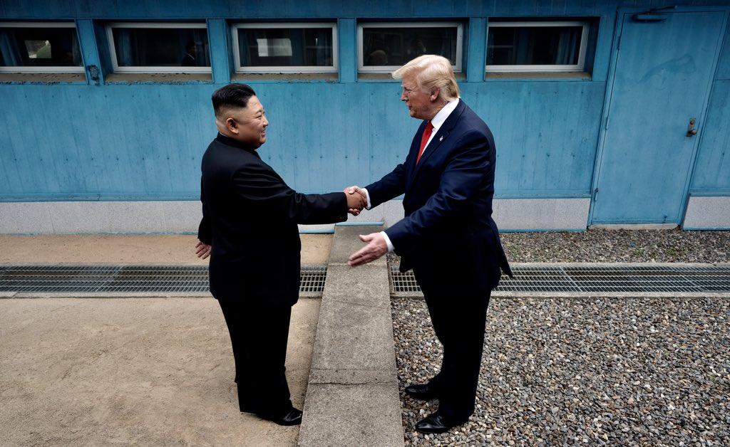 Trump steps foot in North Korea