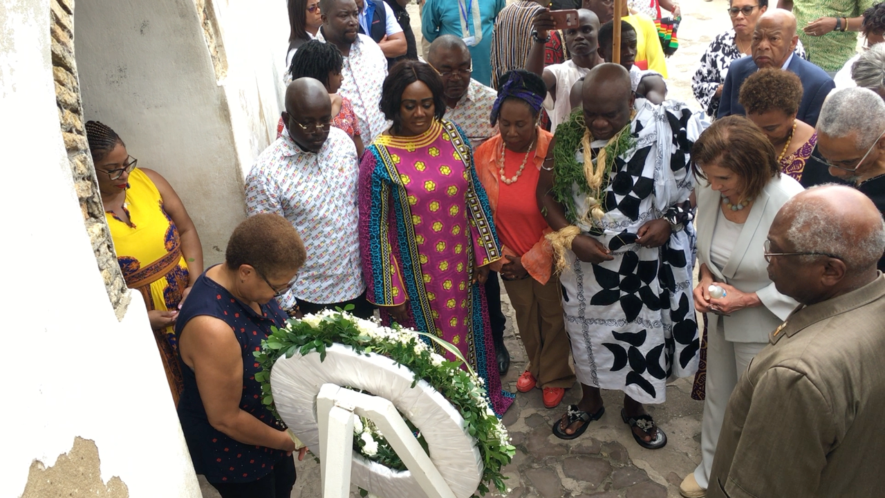 US congress members at Elmina Castle