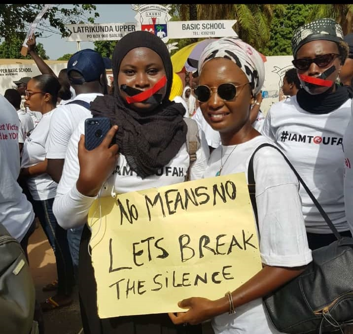 Protest held in Gambia