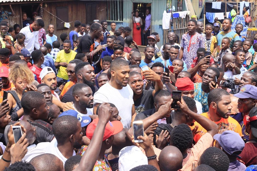 Anthony Joshua Lagos slum