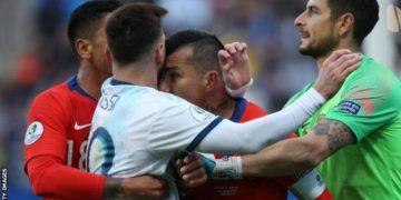 Messi red card medel