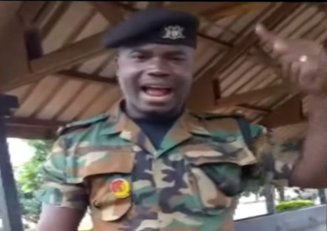 Military officer detained in Ghana