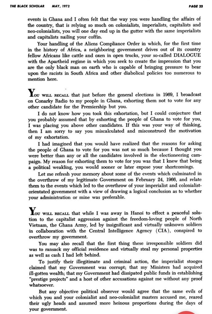 Nkrumah letter to Busia