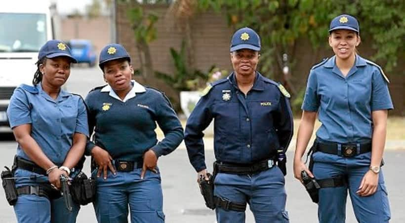 All-female police officers