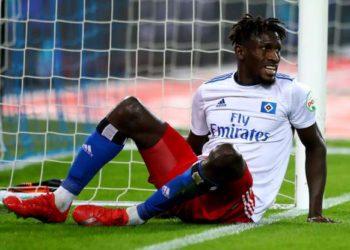 Gambian footballer Bakery Jatta of Hamburg
