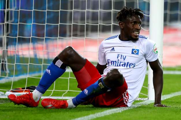 Gambian footballer Bakery Jatta of Hamburg