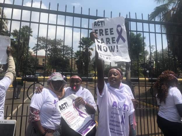Cancer in Kenya protest