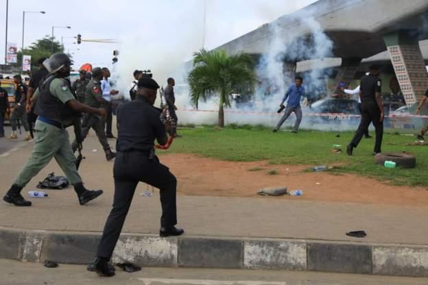 RevolutionIsNow protesters