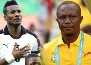 Asamoah Gyan and coach Kwesi Appiah