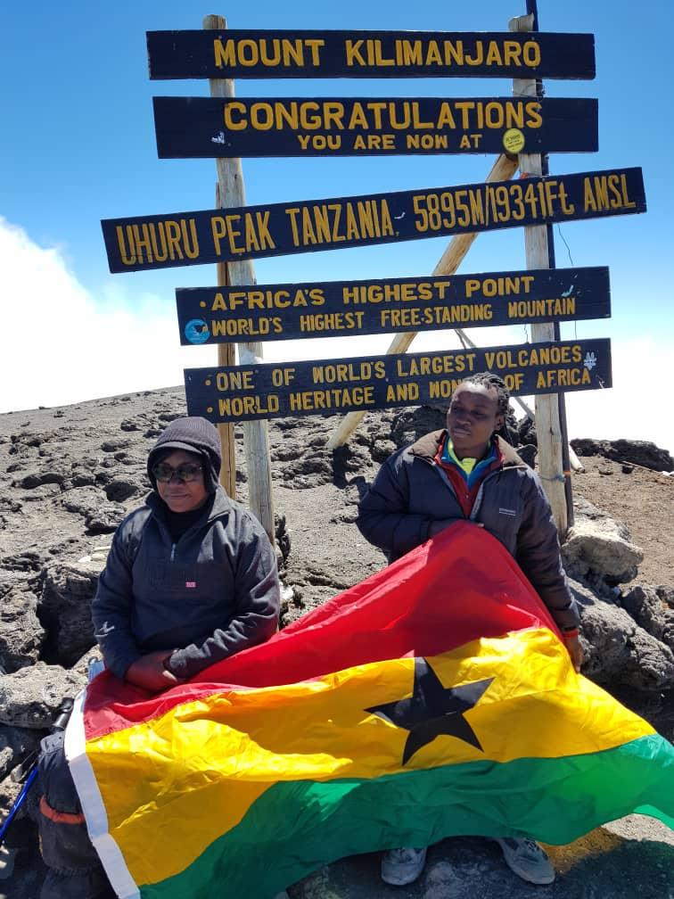 Woman climbs Kilimanjaro
