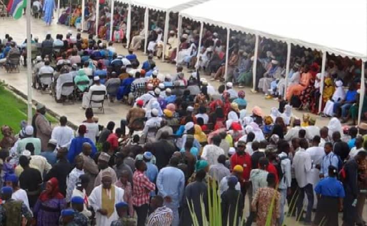 Crowd at Jawara funeral