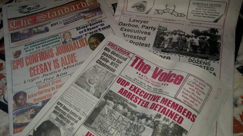 News papers in Gambia