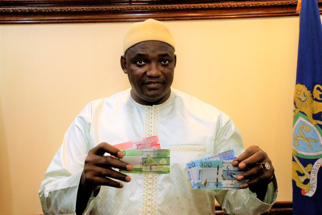 Gambia new bank notes