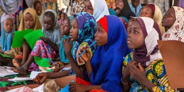 Nigerian girls into school