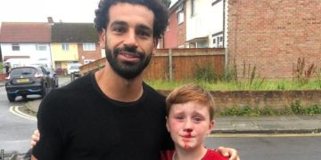 Mohammed Salah visits young fan