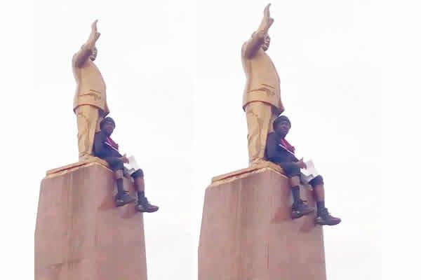 Man fakes suicide attempt