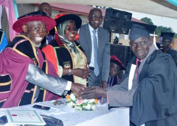 75 year old graduate Uganda