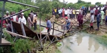 The collapsed bridge Nigeria