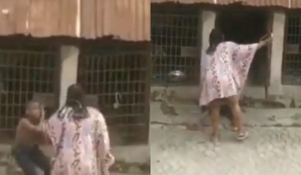 Woman flogs boy, locks him