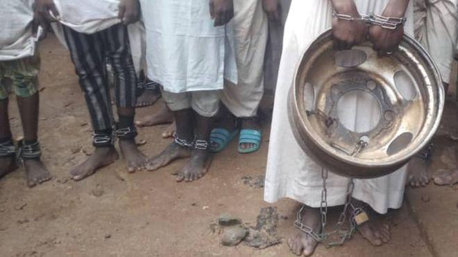 Kids in slave school in Nigeria