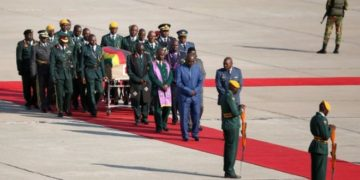 Mugabe's body arrives home