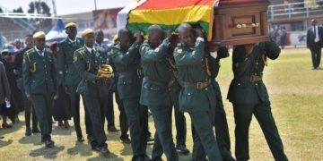 Mugabe coffin carried