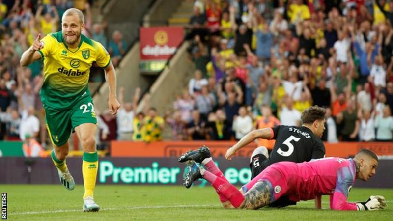 Norwich city beat man city