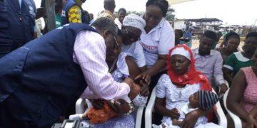 Polio immunization in Ghana