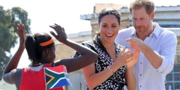 Prince Harry an Meghan in South Africa