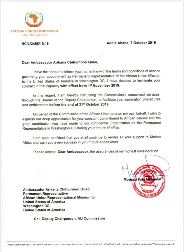 AU letter