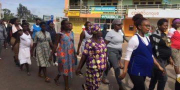 Pregnant women exercise in Rwanda