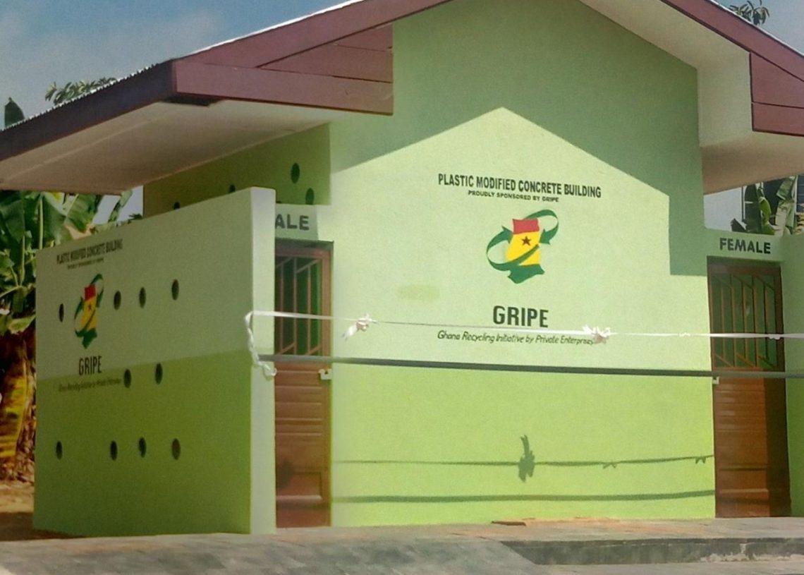 Plastic toilet in Ghana