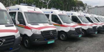 Ambulances parked in Ghana