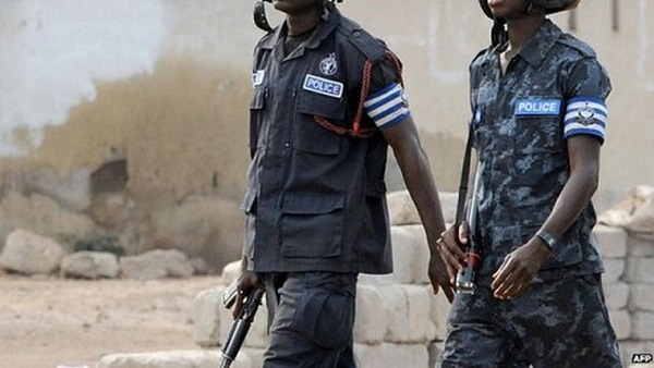Police officers in Ghana