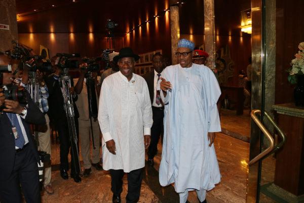 Buhari meets Jonathan