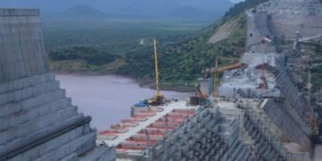 Mega dam on river nile