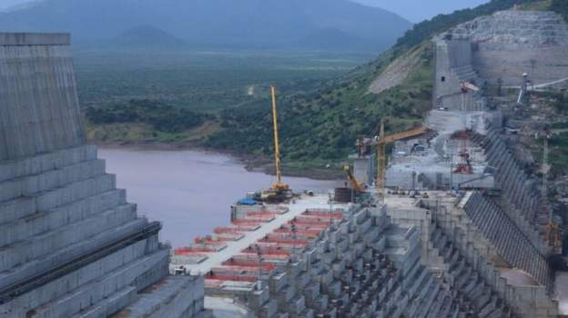 Mega dam on river nile