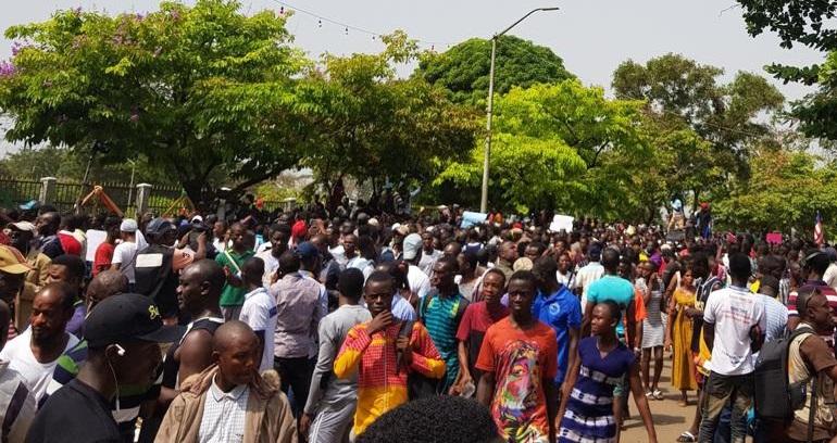 Liberians protest