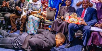 Anthony Joshua meets Buhari