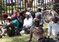 Zambian retirees camp outside