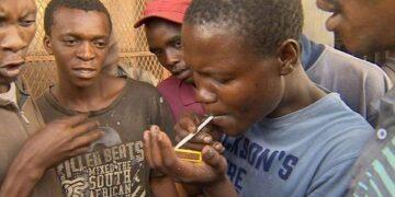 Ghanaian youth smoking faecses