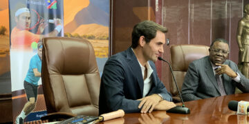 Roger Federer in Namibia