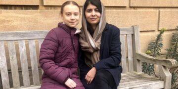 Greta Thunberg meets Malala Yousafzai