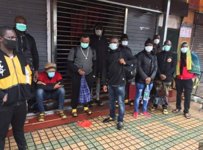Africans stranded in China