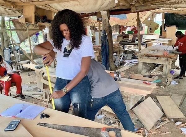 Comfort Nana Ama Adzigbli at work. Photo: LinkedIn/Edward Asare